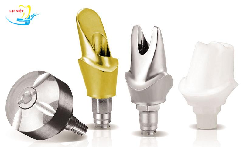 Trồng răng giả implant bao nhiêu tiền phụ thuộc vào loại abutment của từng hãng implant khác nhau.