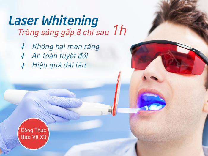phương pháp tẩy trắng răng khi răng bị vàng